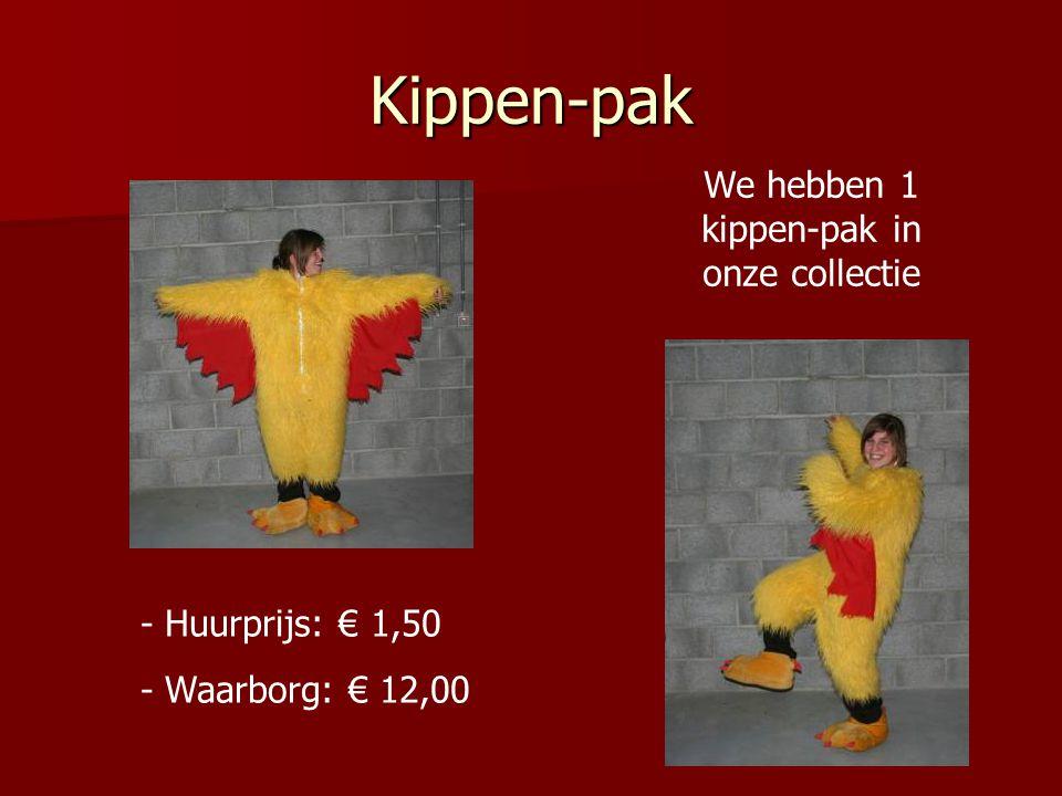 Kippen-pak - Huurprijs: € 1,50 - Waarborg: € 12,00 We hebben 1 kippen-pak in onze collectie
