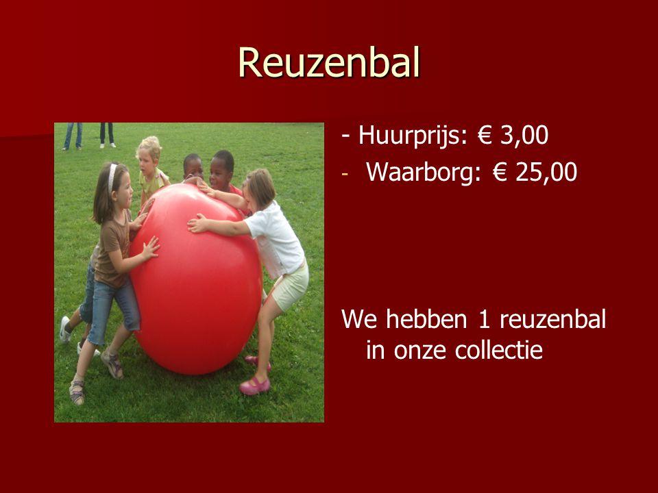 Reuzenbal - Huurprijs: € 3,00 - - Waarborg: € 25,00 We hebben 1 reuzenbal in onze collectie
