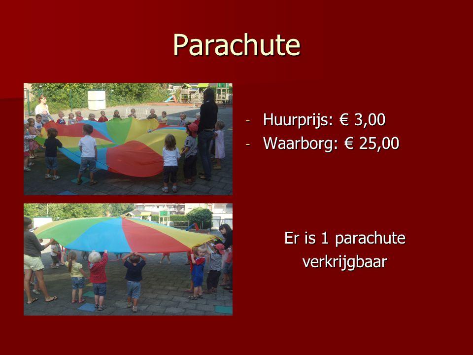 Parachute - Huurprijs: € 3,00 - Waarborg: € 25,00 Er is 1 parachute verkrijgbaar