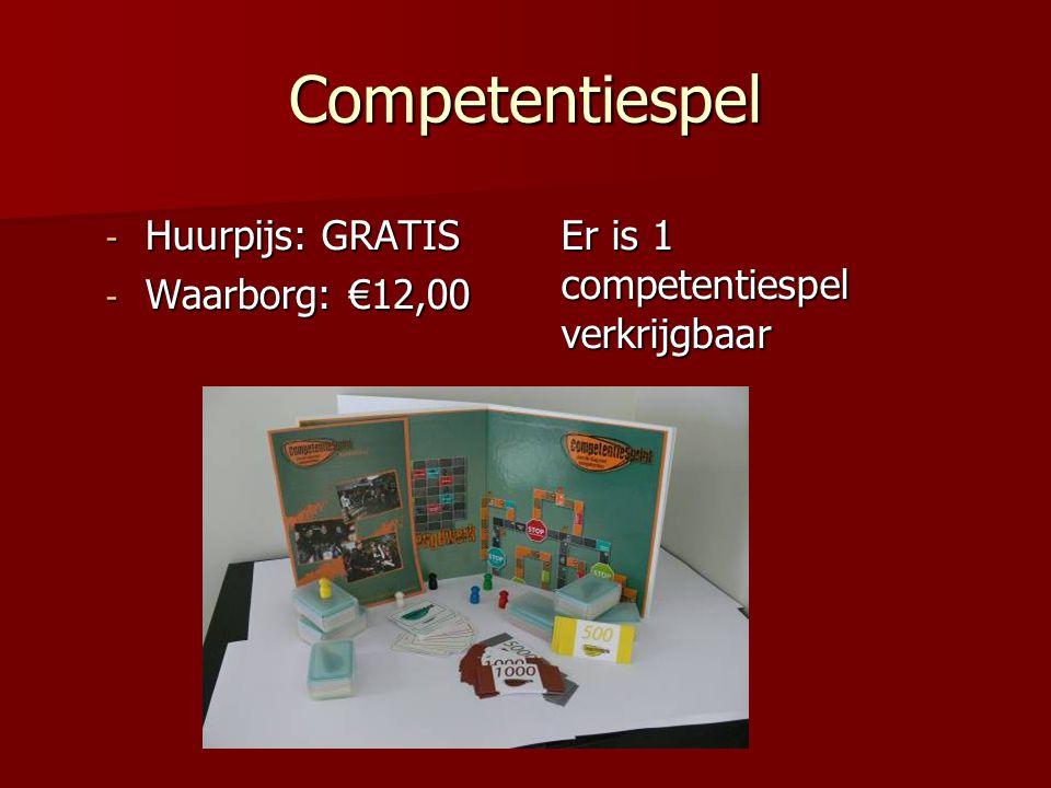Competentiespel - Huurpijs: GRATIS - Waarborg: €12,00 Er is 1 competentiespel verkrijgbaar
