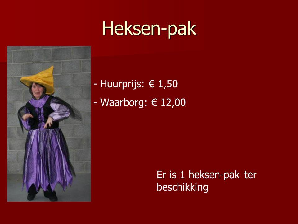 Heksen-pak - Huurprijs: € 1,50 - Waarborg: € 12,00 Er is 1 heksen-pak ter beschikking