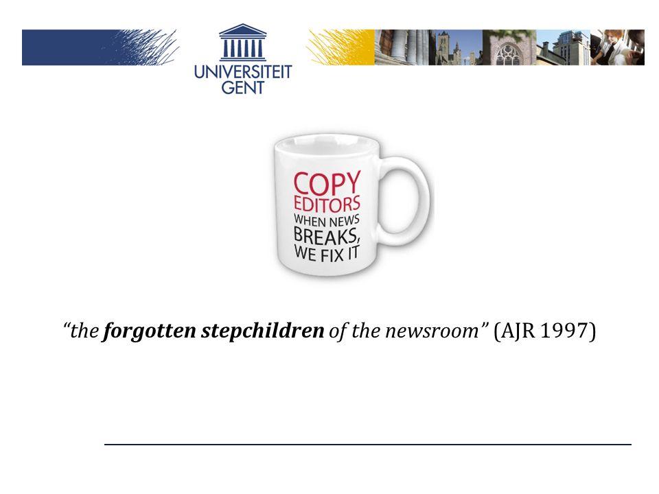 """the forgotten stepchildren of the newsroom"" (AJR 1997)"