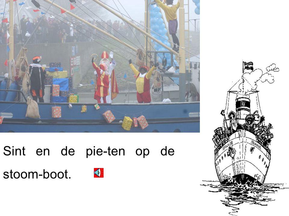 sint heeft een boot. de boot vaart snel.