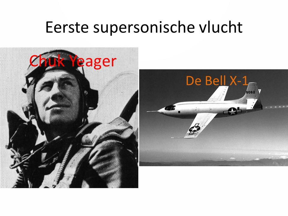 Eerste supersonische vlucht Chuk Yeager De Bell X-1
