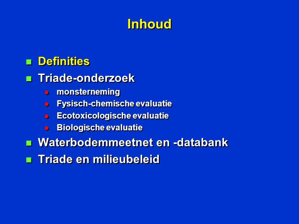 Ecotoxicologische verwerking E.E.VTRklasse Selenastrum2.12103 Thamocephalus0.0111 Hyalella4 % 100 Poriënwater105.52 Eindklasse4