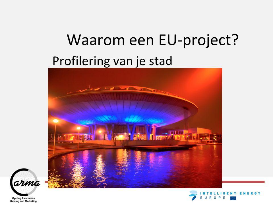 Waarom een EU-project Profilering van je stad