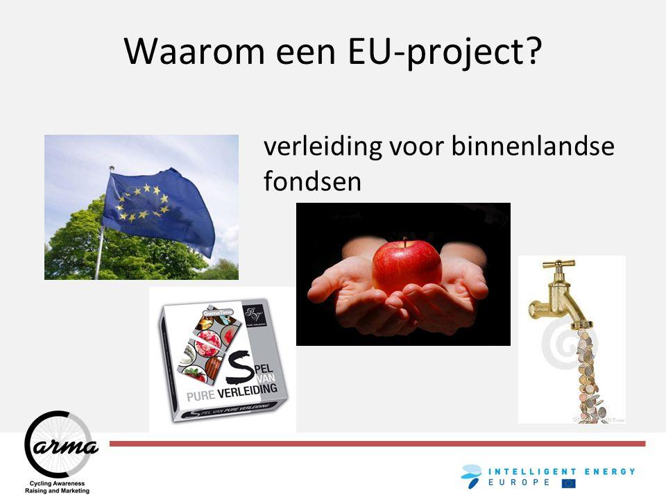 Waarom een EU (fiets)project? geld?