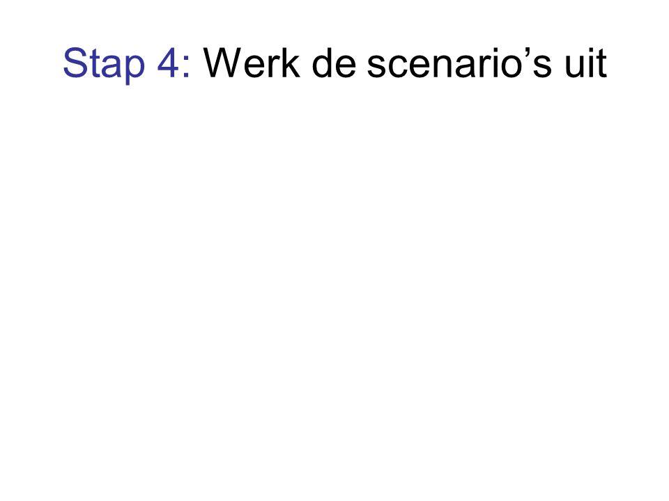 Stap 4: Werk de scenario's uit