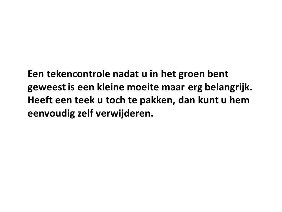 Hoeveel teken zijn er in Nederland besmet.