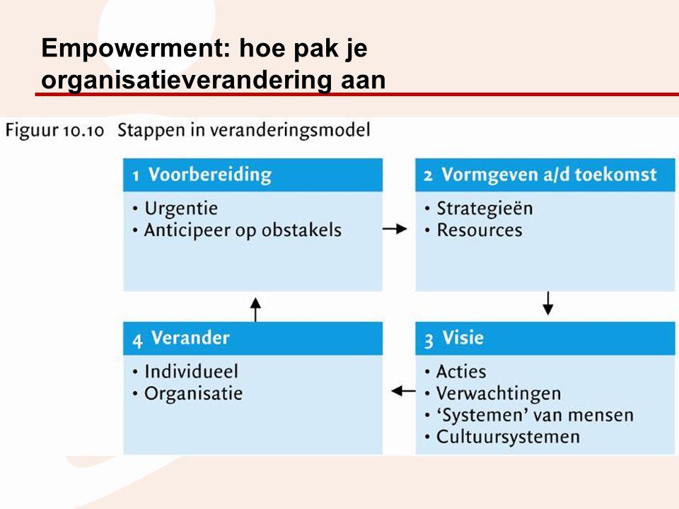 Empowerment: hoe pak je organisatieverandering aan