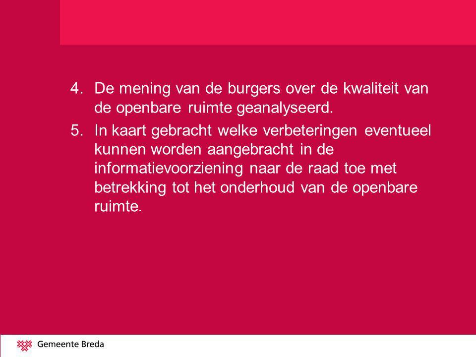 Belangrijkste bevindingen 1.Onderhoudsbudget in Breda is relatief laag t.o.v.