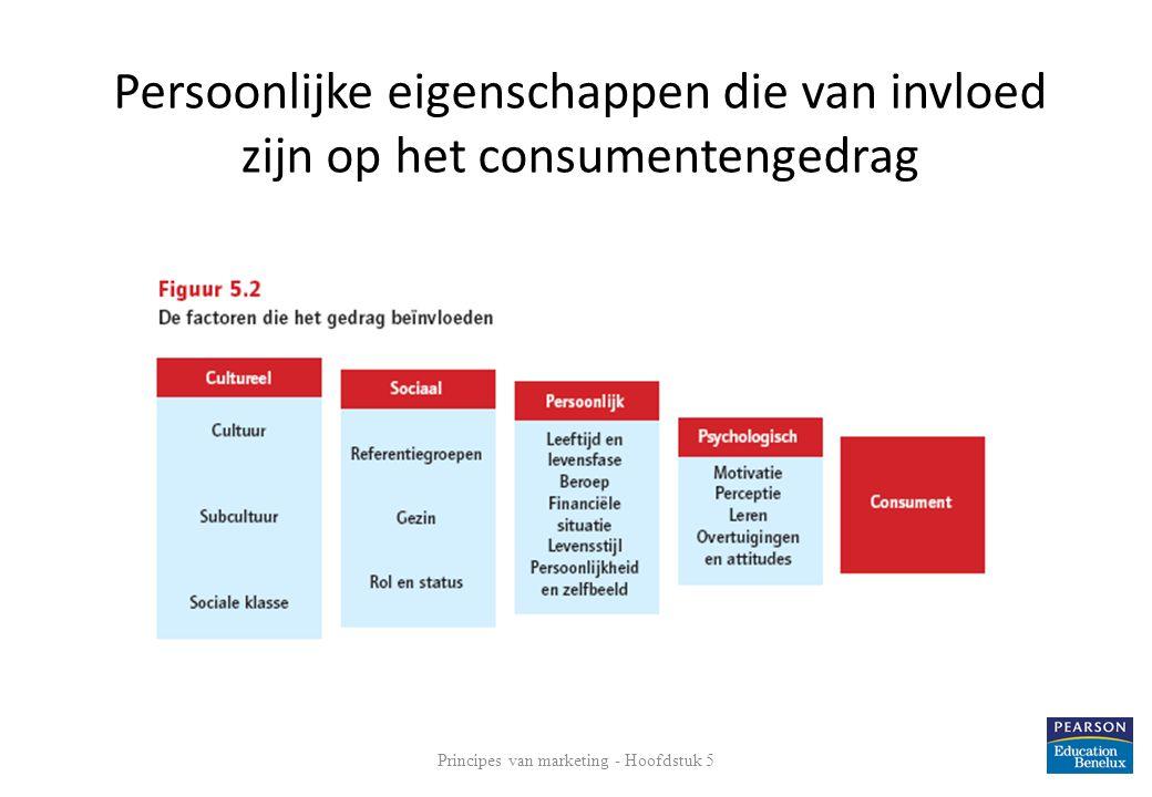 Persoonlijke eigenschappen die van invloed zijn op het consumentengedrag 7 Principes van marketing - Hoofdstuk 5