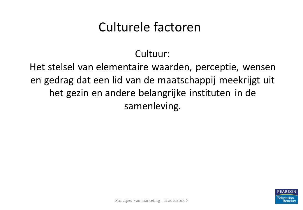 Cultuur: Het stelsel van elementaire waarden, perceptie, wensen en gedrag dat een lid van de maatschappij meekrijgt uit het gezin en andere belangrijke instituten in de samenleving.