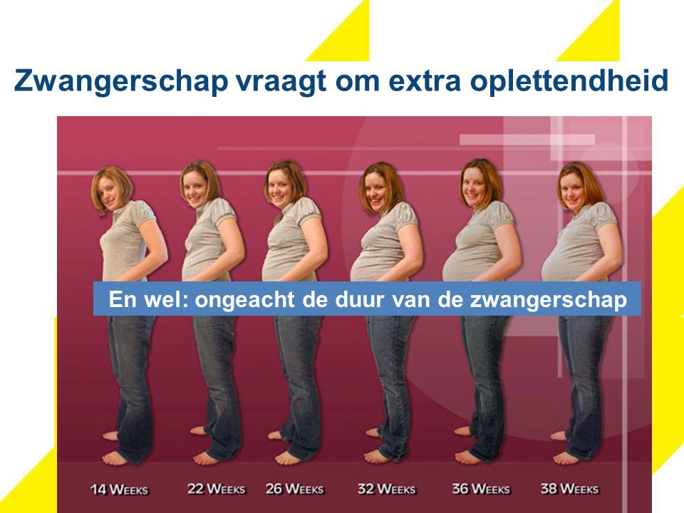 Zwangerschap vraagt om extra oplettendheid En wel: ongeacht de duur van de zwangerschap
