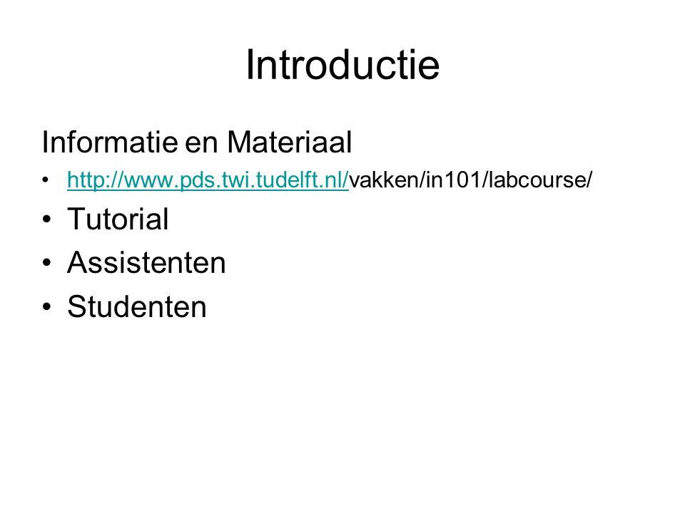 Inhoud Practicum Deel C –Instructie Set –Test Programma