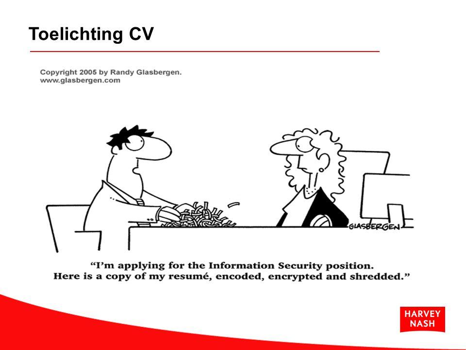Toelichting CV