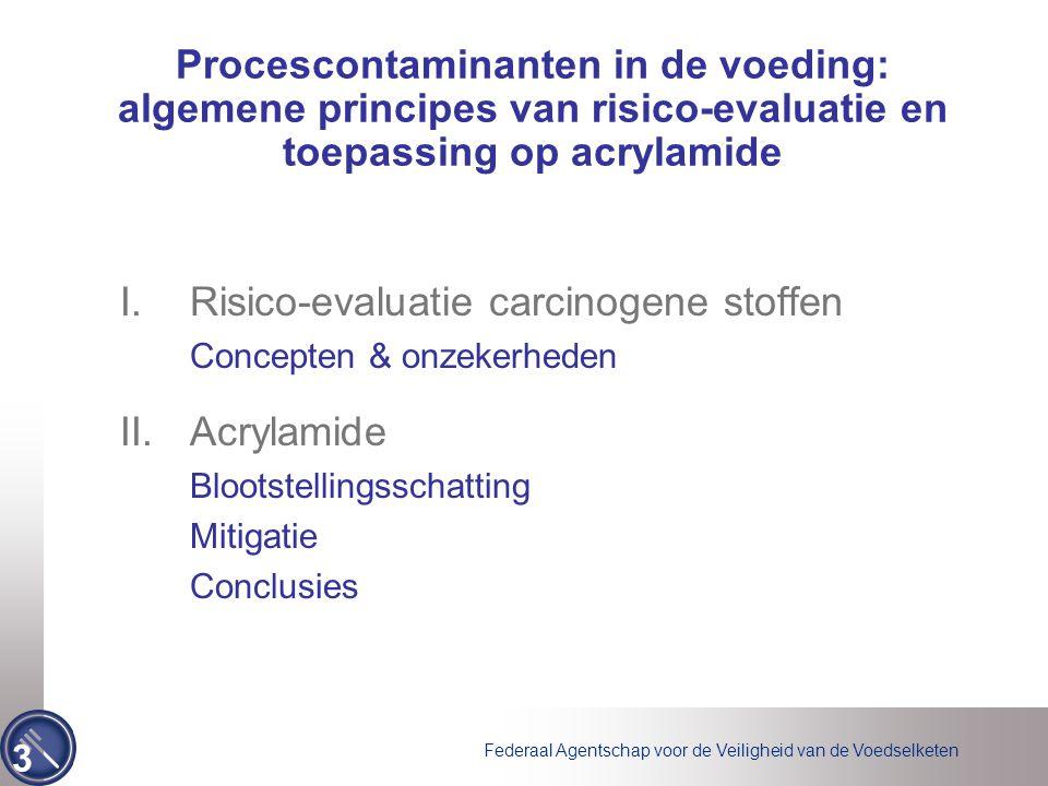 Federaal Agentschap voor de Veiligheid van de Voedselketen 3 Procescontaminanten in de voeding: algemene principes van risico-evaluatie en toepassing