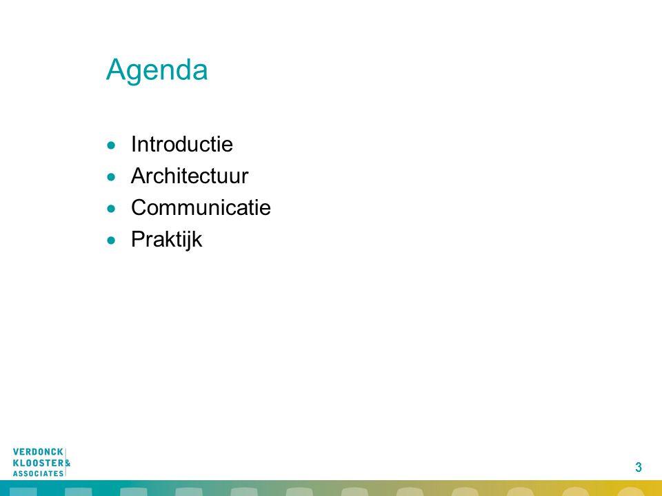 3 Agenda  Introductie  Architectuur  Communicatie  Praktijk