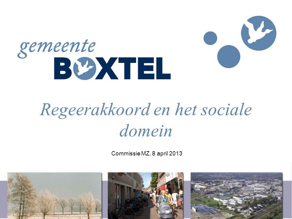 Regeerakkoord en het sociale domein Commissie MZ, 8 april 2013