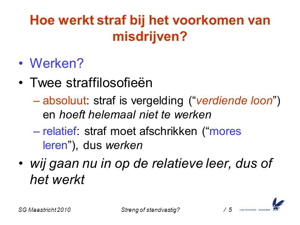 SG Maastricht 2010 Streng of standvastig / 5 Hoe werkt straf bij het voorkomen van misdrijven.
