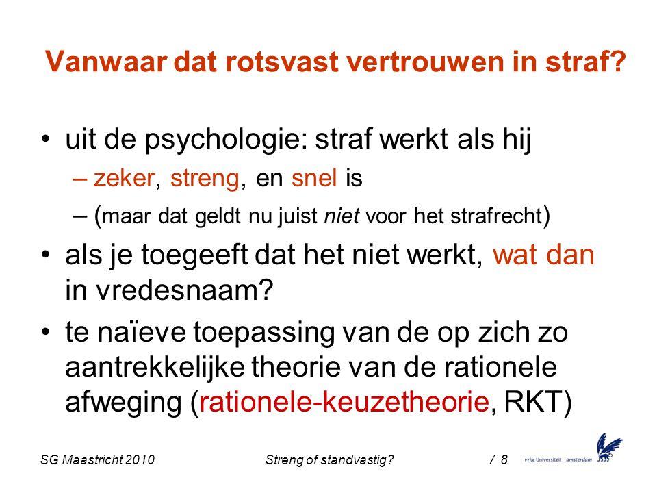 SG Maastricht 2010 Streng of standvastig / 8 Vanwaar dat rotsvast vertrouwen in straf.