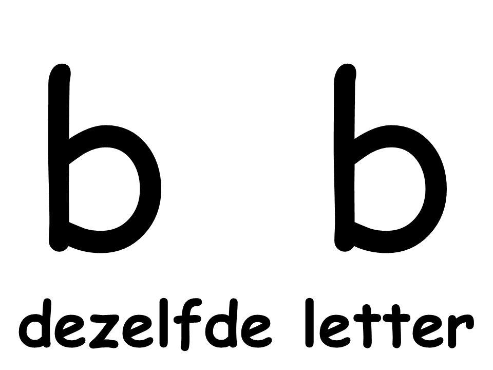 dezelfde letter b