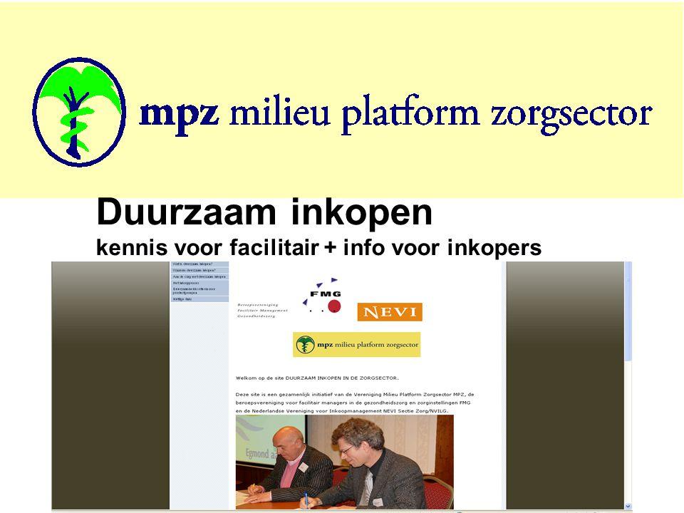 7 Duurzaam inkopen kennis voor facilitair + info voor inkopers
