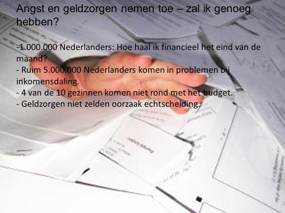 Angst en geldzorgen nemen toe – zal ik genoeg hebben? -1.000.000 Nederlanders: Hoe haal ik financieel het eind van de maand? - Ruim 5.000.000 Nederlan