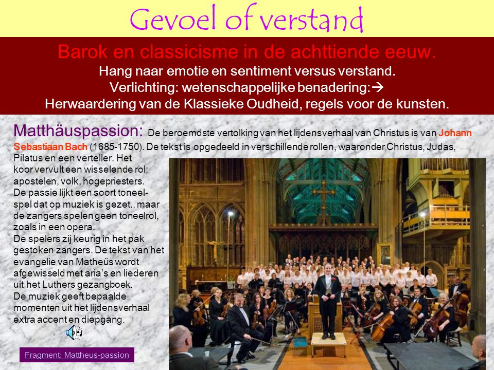 Gevoel of verstand Concerten: Bach is niet alleen bekend om zijn kerkelijke muziek.