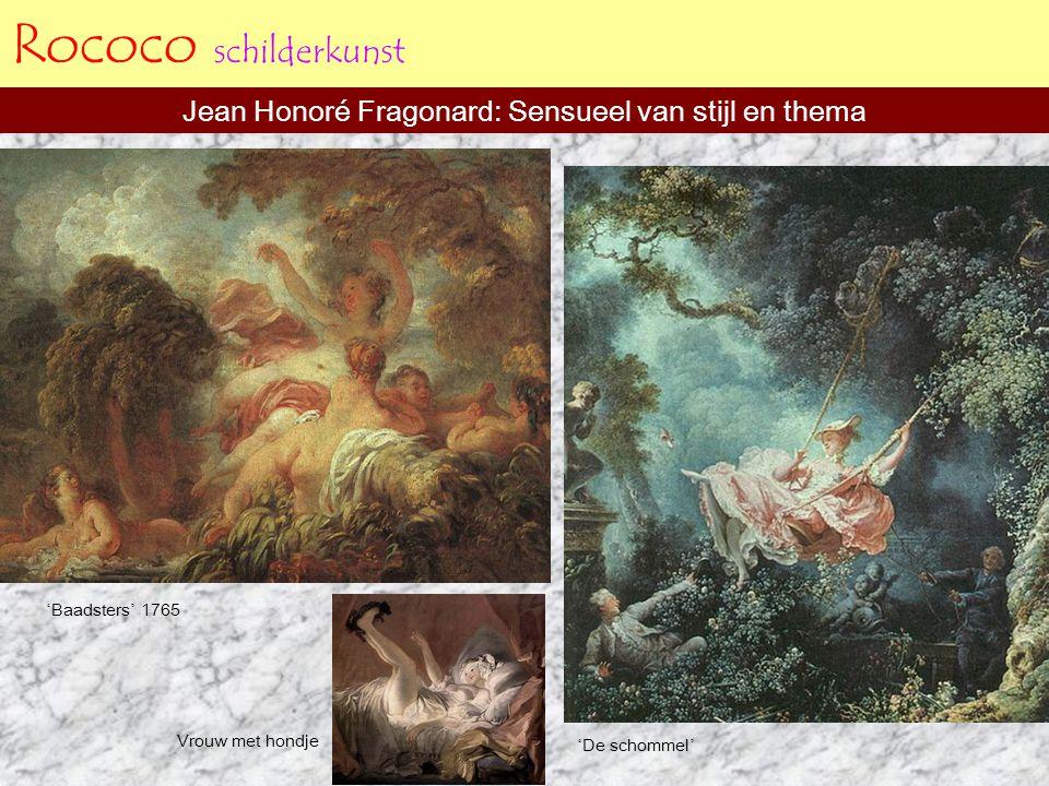 Rococo schilderkunst Engelse schilders doen weer mee Thomas Gainsborough ' Mr.Andrews and wife ' 1750 William Hogarth ' the orgy ' Gainsborough ' the gravenor family