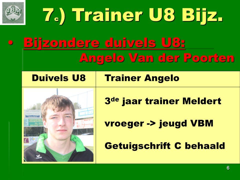 Bijzondere duivels U9:Bijzondere duivels U9: Raf De Koninck Raf De Koninck 7 7 d ) Trainer U9 Bijz.