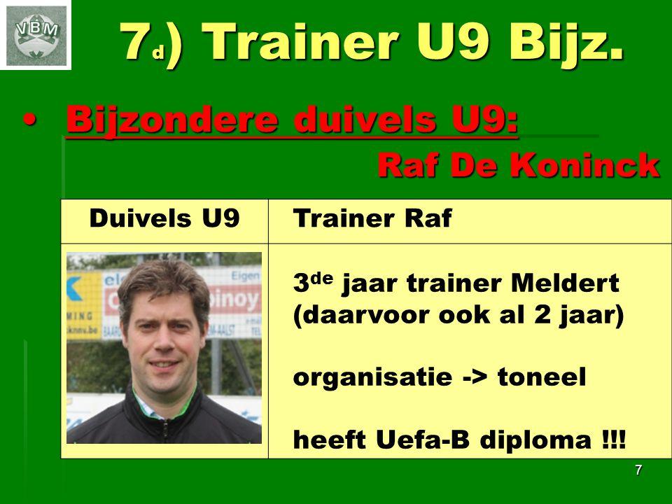 18Samenwerking 1 ste ploeg Bedankt coaches !!.