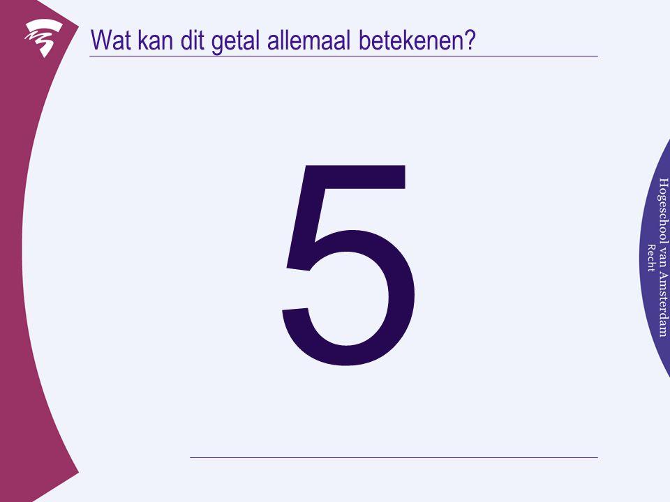 Wat kan dit getal allemaal betekenen? 5