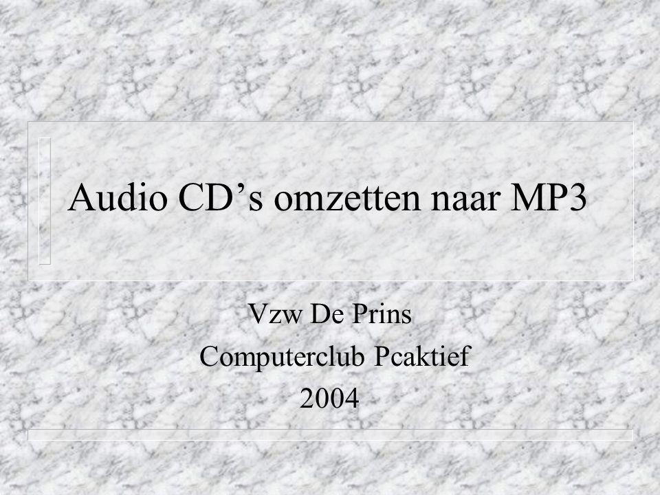 EAC (Exact Audio Copy) n Zeer geavanceerde leestechniek n Elke sector wordt 2 maal gelezen en vergeleken.