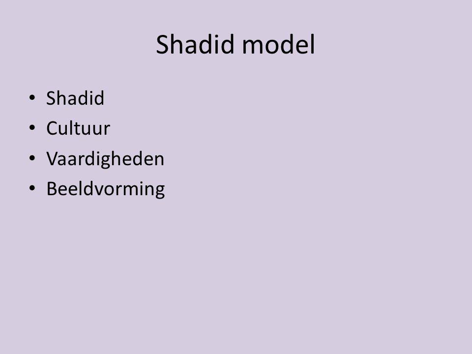 Shadid model Shadid Cultuur Vaardigheden Beeldvorming