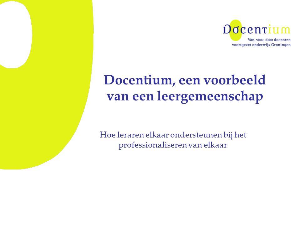 Docentium, een voorbeeld van een leergemeenschap Hoe leraren elkaar ondersteunen bij het professionaliseren van elkaar