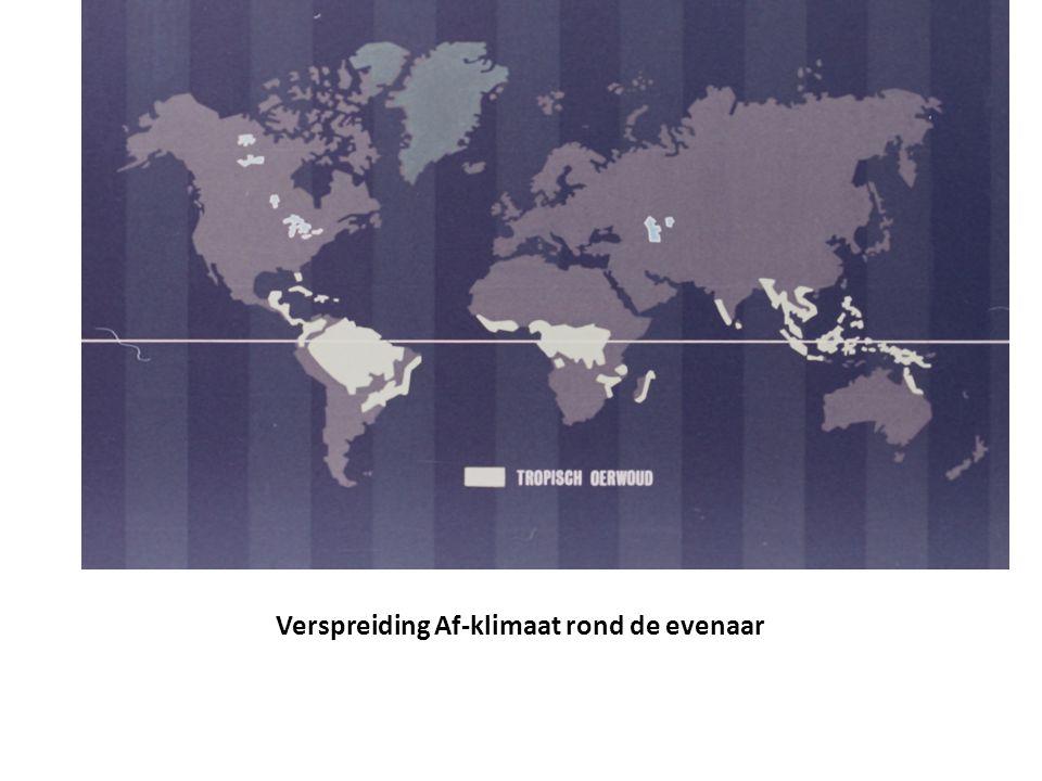 Verspreiding Af-klimaat rond de evenaar