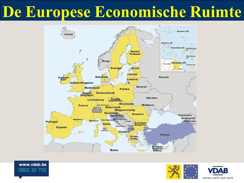 www.vdab.be 0800 30 700 De Europese Economische Ruimte