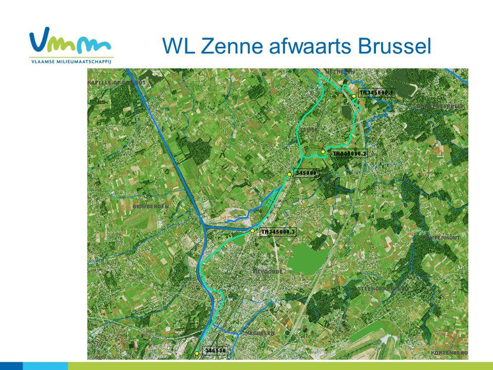 1.Effect ingebruikname RWZI Brussel Noord Meetpunt afwaarts RWZI Brussel Noord (346500) 2005 – 2011 Opmerking: Enkel stalen van het routinematig meetnet (dus exclusief stalen van calamiteiten)