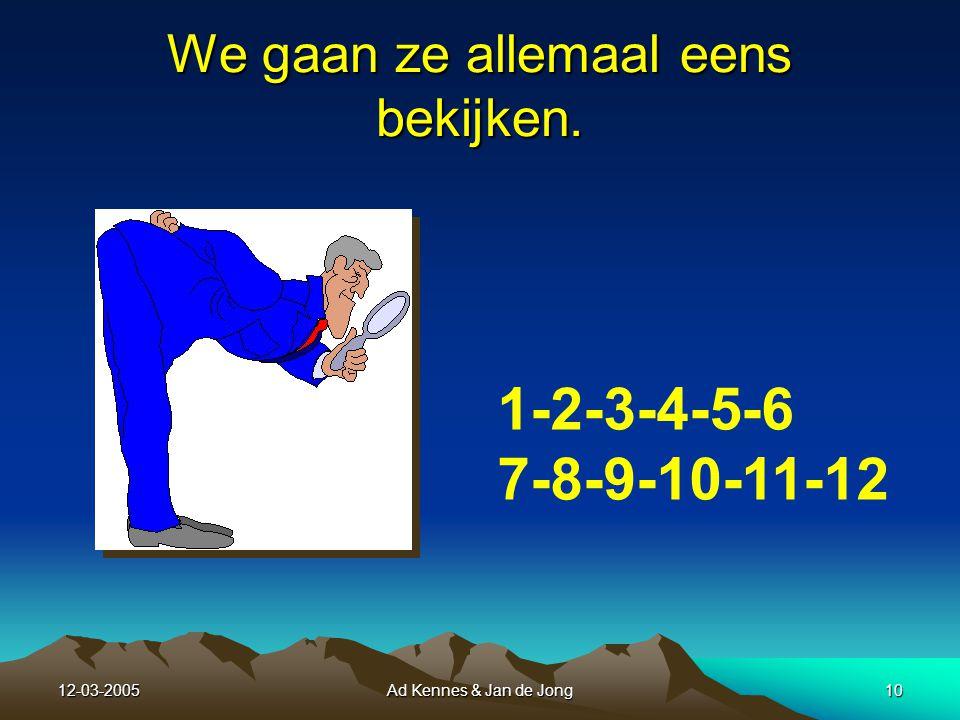 12-03-2005Ad Kennes & Jan de Jong9 IV.