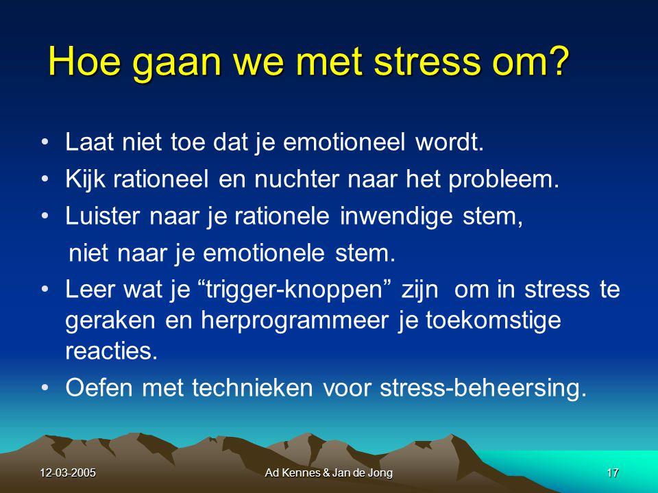 12-03-2005Ad Kennes & Jan de Jong16 3.