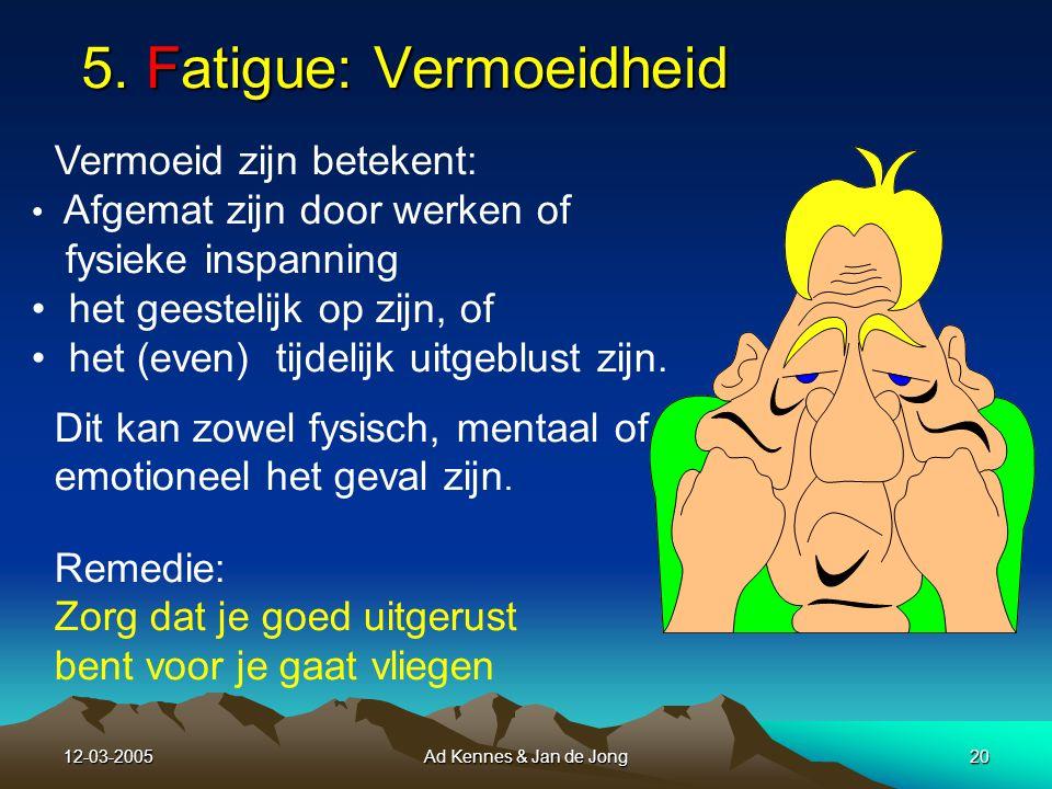 12-03-2005Ad Kennes & Jan de Jong19 A Alcohol in je bloed maakt veilig vliegen onmogelijk.