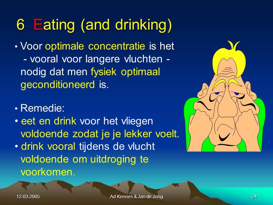 12-03-2005Ad Kennes & Jan de Jong23 Symptomen van vermoeidheid: Er is een verhoogde prikkel nodig om te reageren.