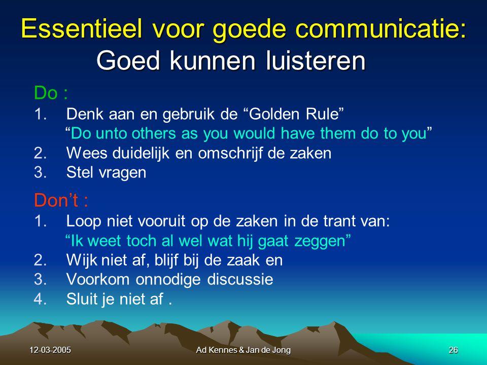 12-03-2005Ad Kennes & Jan de Jong25 7.