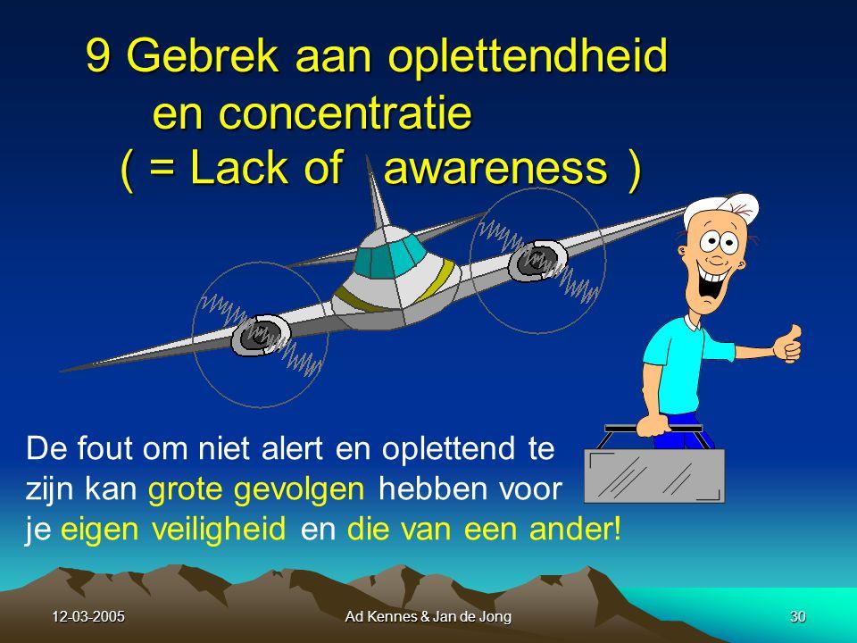 12-03-2005Ad Kennes & Jan de Jong29 Veiligheidsnetten voor Gebrek aan assertiviteit : Verdedig jezelf, laat je niet wegzetten of afbluffen: Doe wat jij denkt voor de veiligheid te moeten doen.