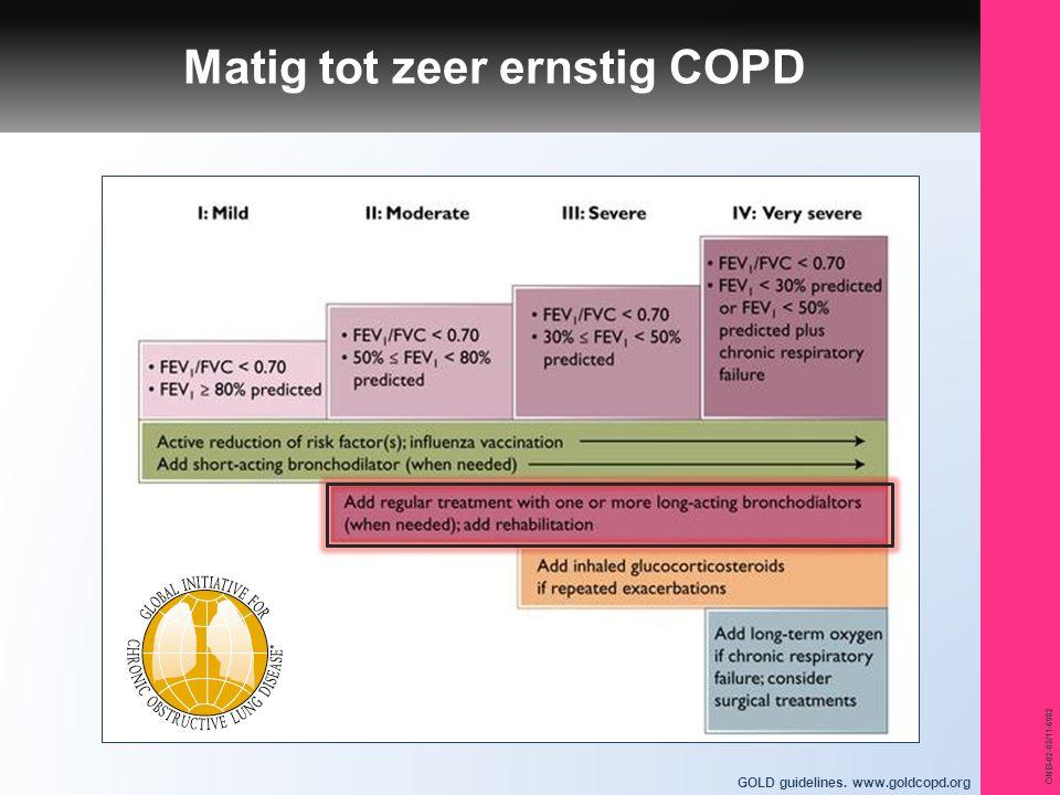 ONB-02-03/11-6982 GOLD guidelines. www.goldcopd.org Matig tot zeer ernstig COPD