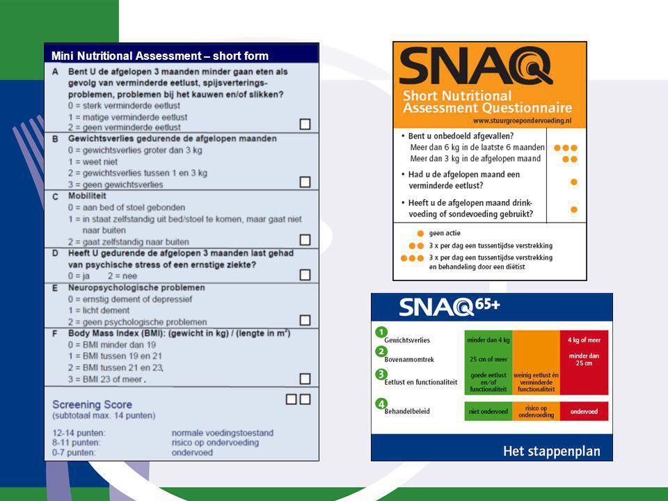 Mini Nutritional Assessment – short form