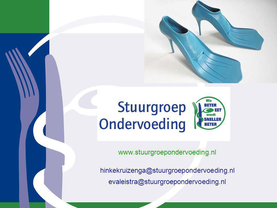 www.stuurgroepondervoeding.nl hinkekruizenga@stuurgroepondervoeding.nl evaleistra@stuurgroepondervoeding.nl