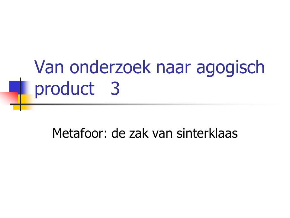 Van onderzoek naar agogisch product 3 Metafoor: de zak van sinterklaas