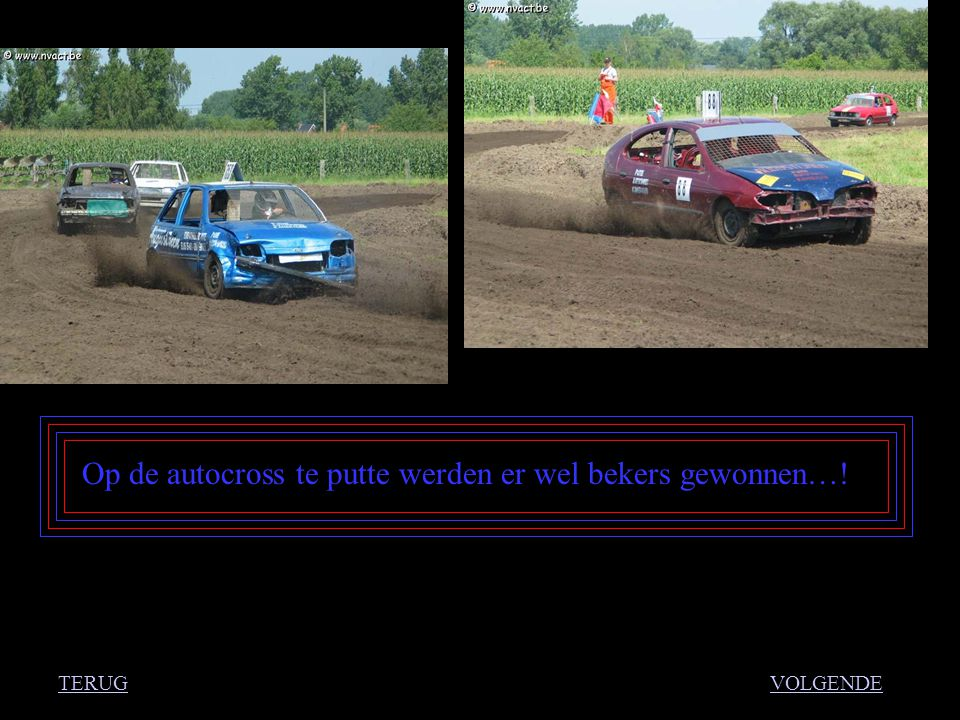 Op de autocross te putte werden er wel bekers gewonnen…! VOLGENDETERUG